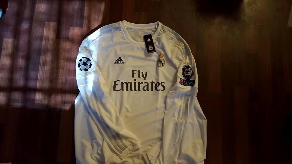 12427350ed875 jersey adidas real madrid 15-16 local manga larga champions. Cargando zoom.
