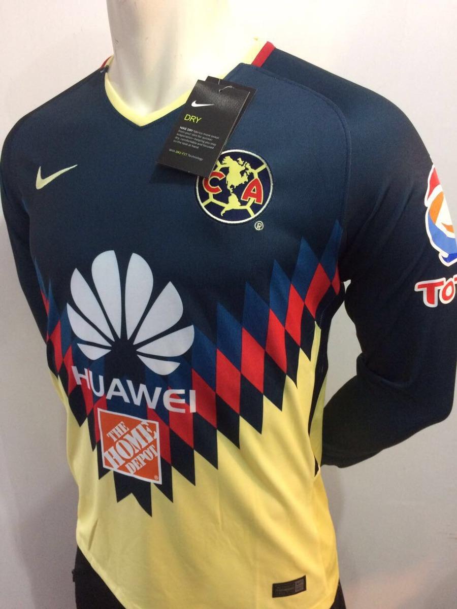 Jersey aguilas del am rica 2018 local manga larga 619 for Cuarto uniforme del america 2018