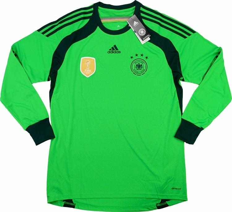 Jersey Alemania adidas Portero Neuer Campeón Brasil 2014 ... 4bcbd2fe20913