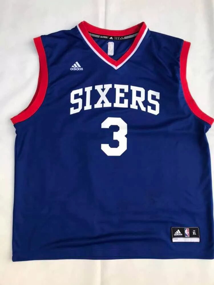 size 40 774f8 9508c Jersey Allen Iverson adidas Sixers 3 - $ 1,000.00