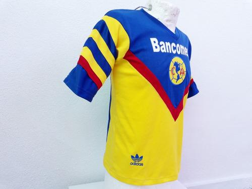 jersey america retro amarilla adidas  bancomer