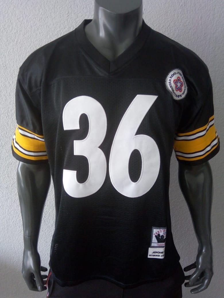 wholesale dealer 39f00 b0c69 Jersey Americano Pittsburgh Steelers Jerome Bettis Mediana
