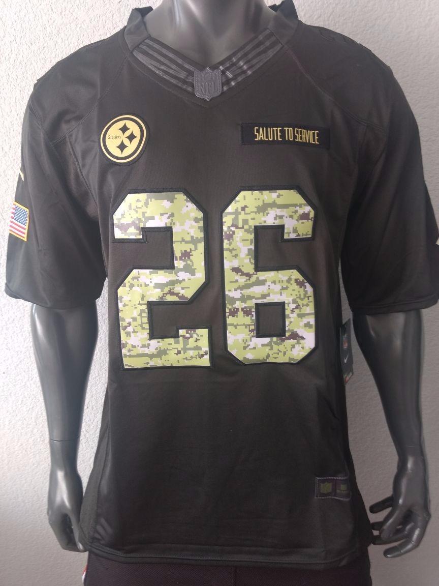 new concept ce6c4 f21ca Jersey Americano Salute Service Steelers Bell Grande Adulto