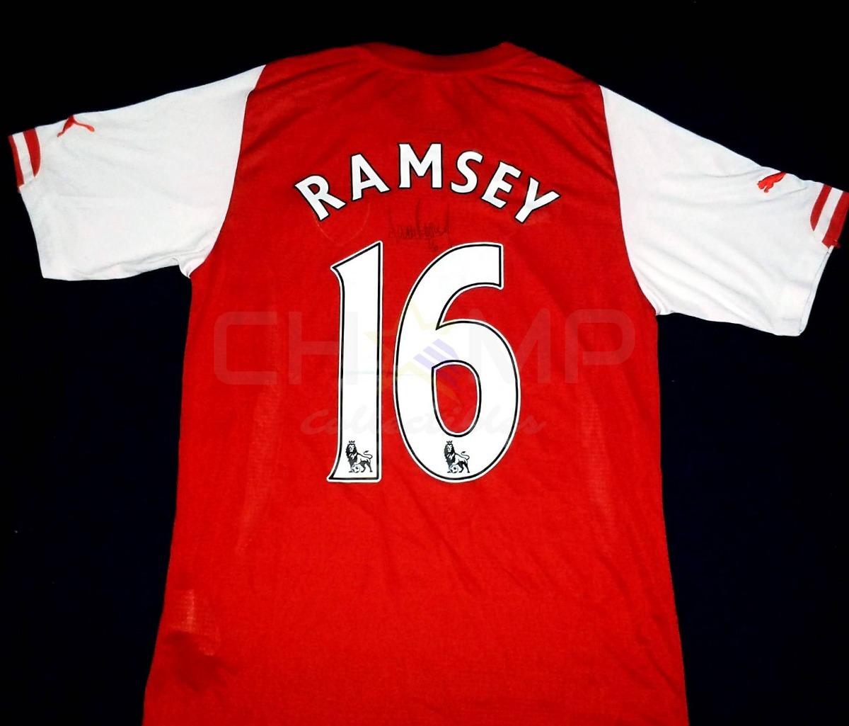 sports shoes d82f4 dc3fe Jersey Autografiado Aaron Ramsey Arsenal Fc Puma 2014-15