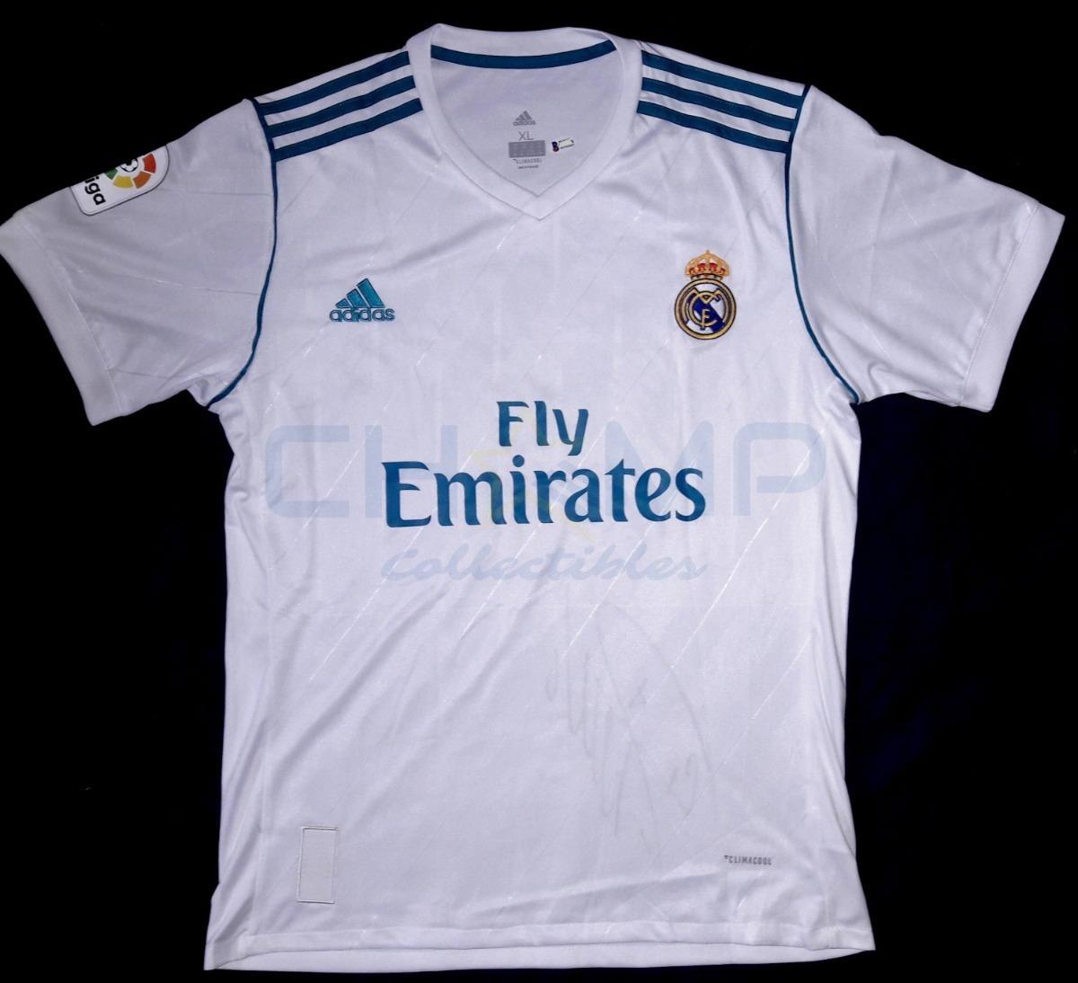 huge discount 75c19 decf0 Jersey Autografiado Cristiano Ronaldo Real Madrid 207-18 Cr7 adidas  Tricampeonato Champions League Firma Grande Beckett
