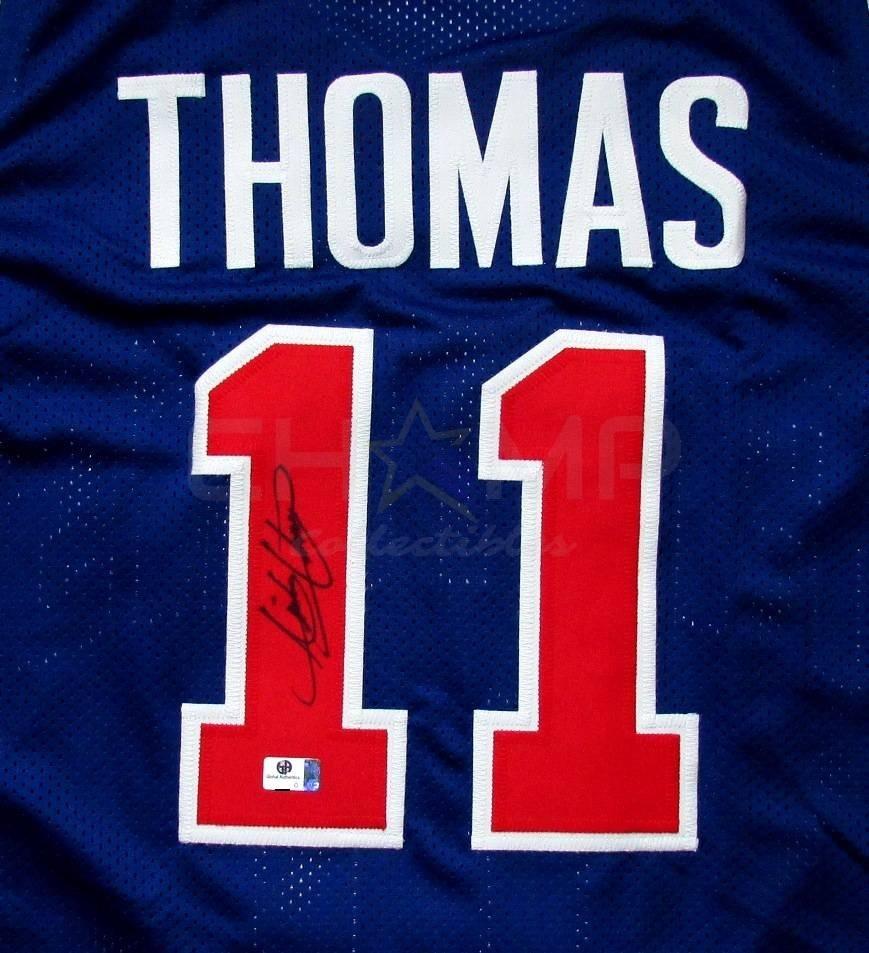 brand new ea67e 92ba5 Jersey Autografiado Isiah Thomas Detroit Pistons Nba
