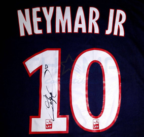 cheap for discount ad61b 99d52 Jersey Autografiado Neymar Paris Saint-germain Nike 2017-18