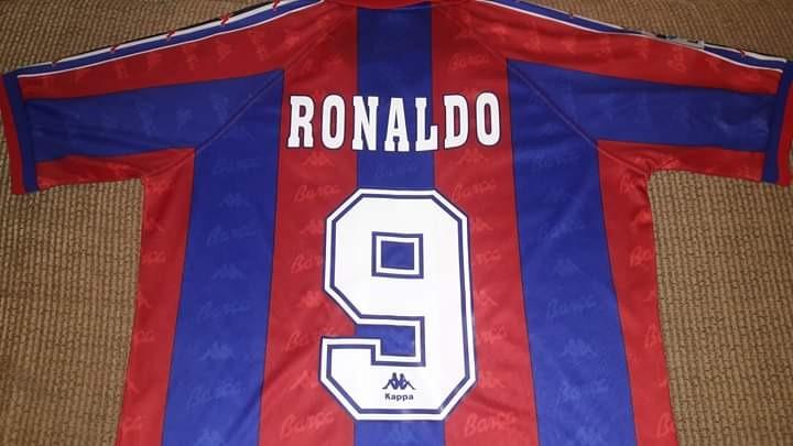 release date b6a28 41ba5 Jersey Barcelona Kappa 97 Ronaldo 9
