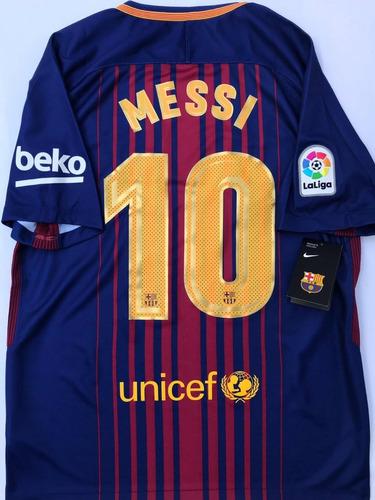 best sneakers f6a80 19e91 Jersey Barcelona Nike España Local 2017 2018 Messi Original