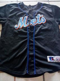 Baseball Ny Xl Russell 18-20 Jersey Negro Juvenil Mets