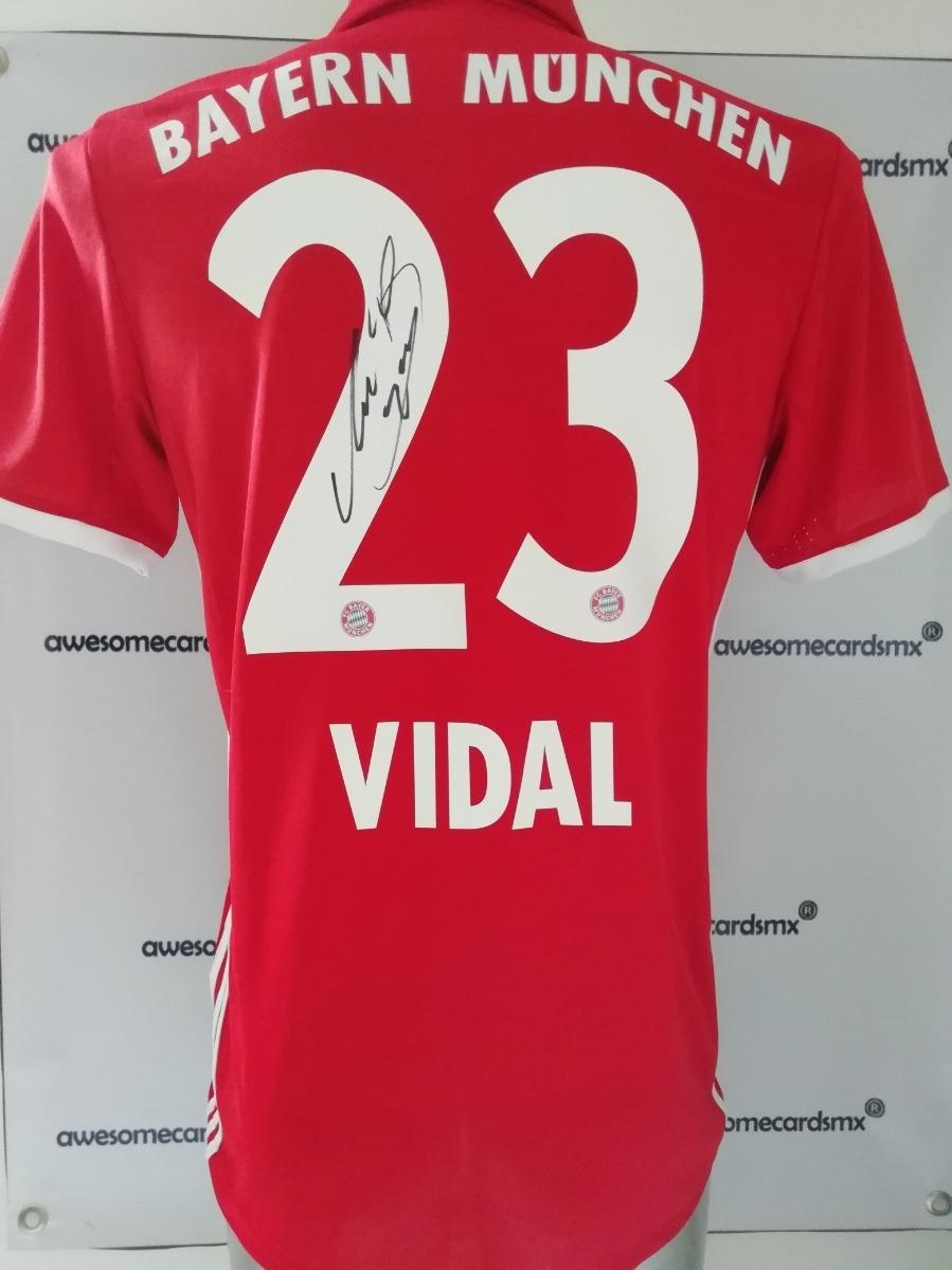 new product c0284 9255c Jersey Bayern Munich Firmado Arturo Vidal Certificado Foto