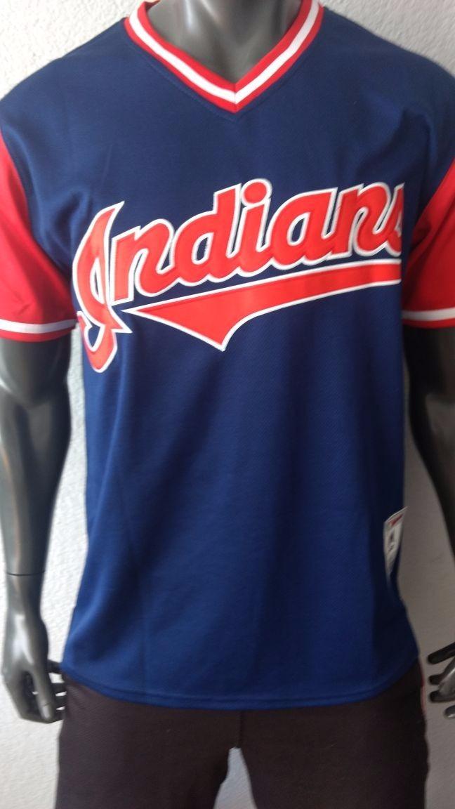 finest selection 217dd 79be1 Jersey Beisbol 12 Cleveland Indians Lindor Mr Smile Talla M