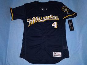 buy popular ea13f 639c9 Jersey Beisbol Cerveceros Milwaukee Paul Molitor (mediana)