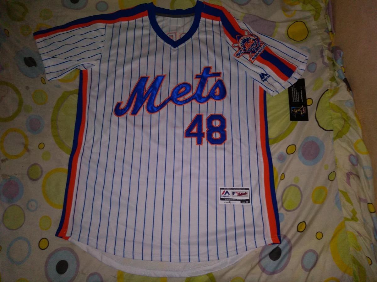 check out 2d3dd d9514 Jersey Beisbol Mlb Mets Nueva York Jacob Degrom Mediana #48