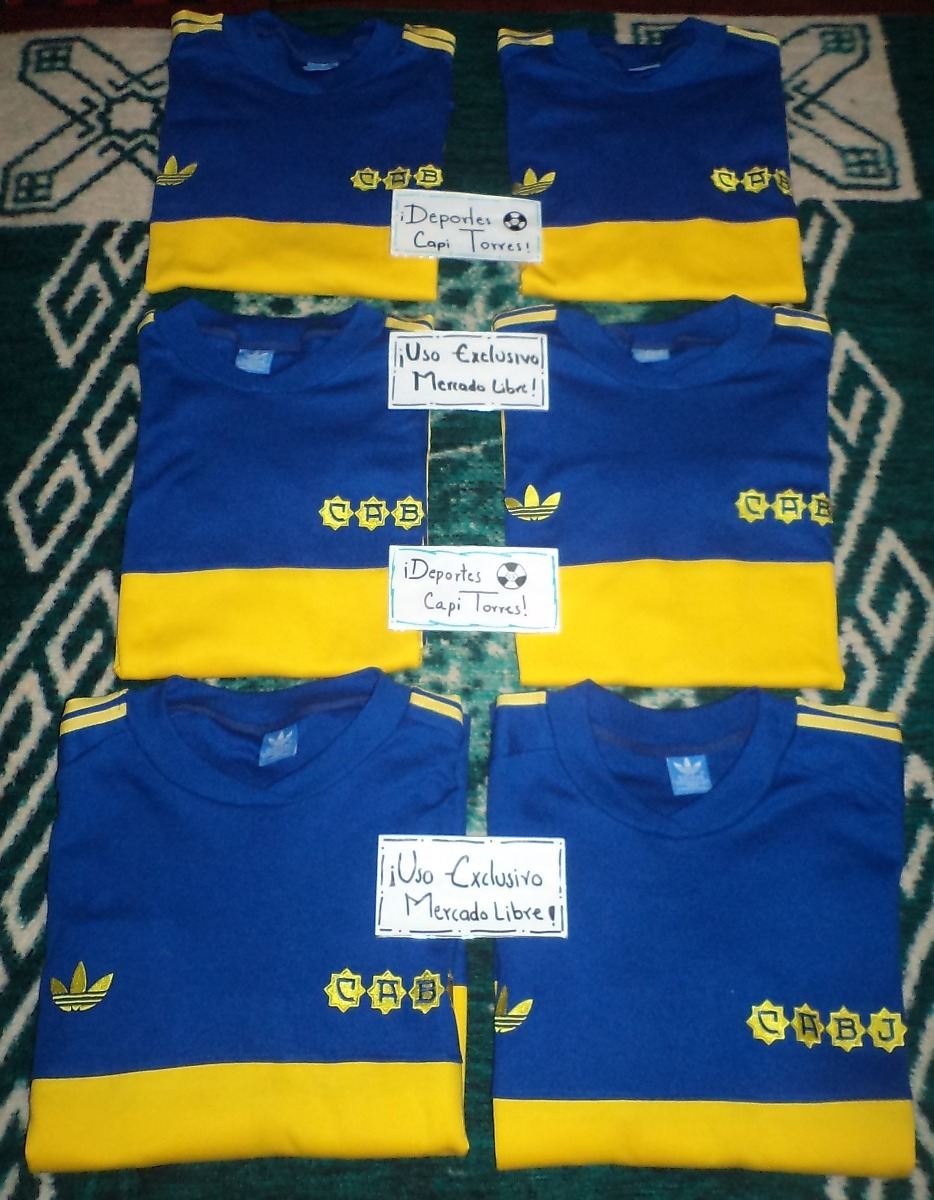 free shipping 3beb1 acd5e Jersey Boca Juniors 1981 Retro Diego Maradona adidas 80s