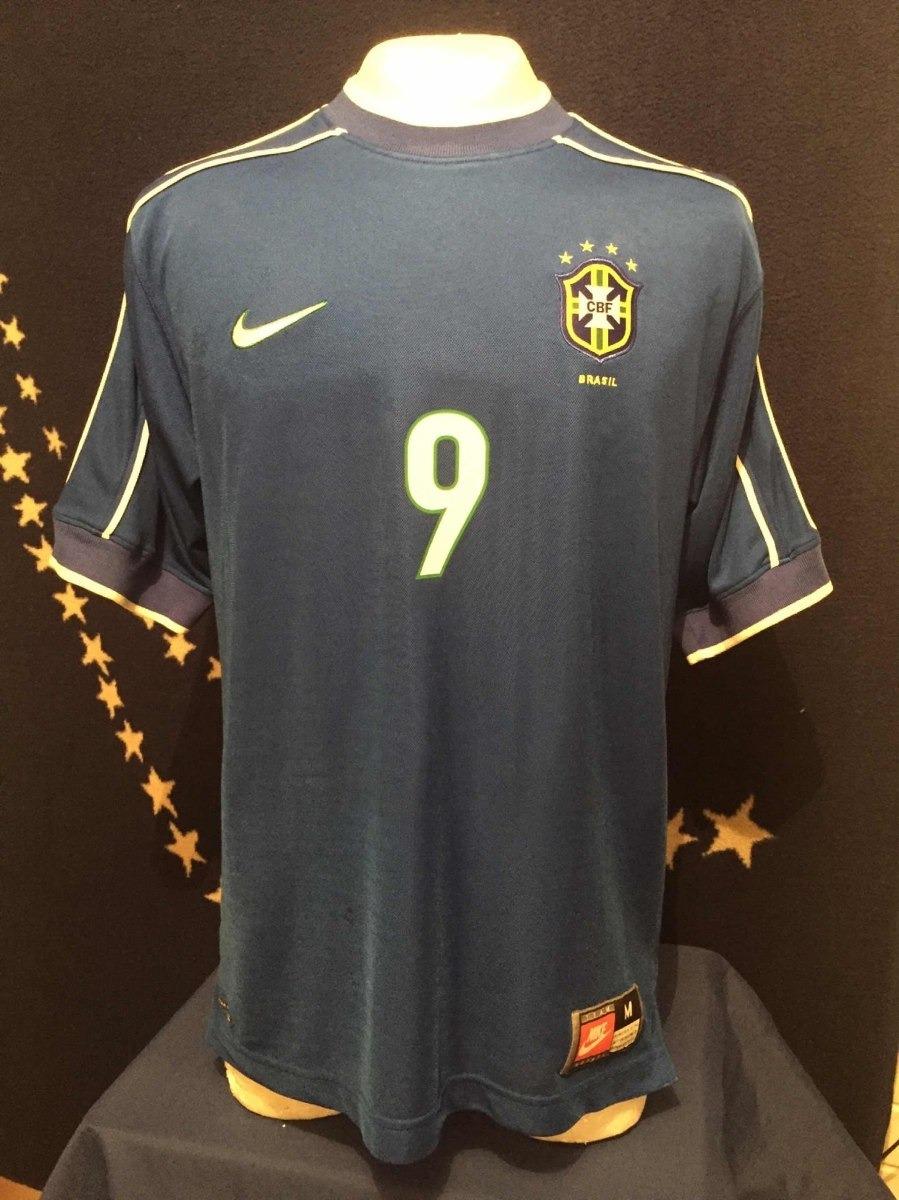 buy popular 90f1c 044b9 Jersey Brasil Nike 1998 Mundial Ronaldo Firmada R9 Romario