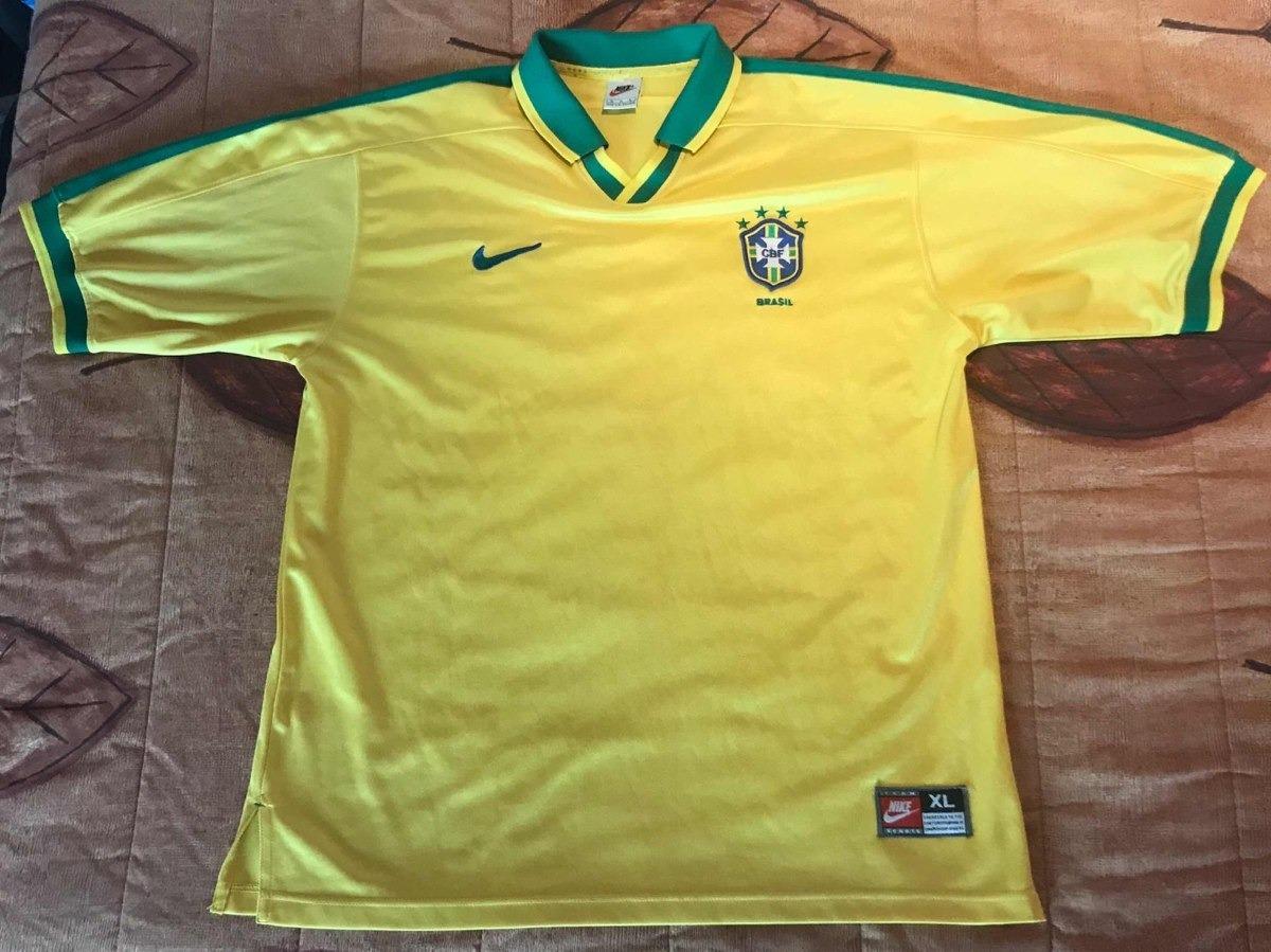 buy popular 444a1 3eac6 Jersey Brasil Nike Ronaldo Romario Cafu 1997 R9 Primero Raro
