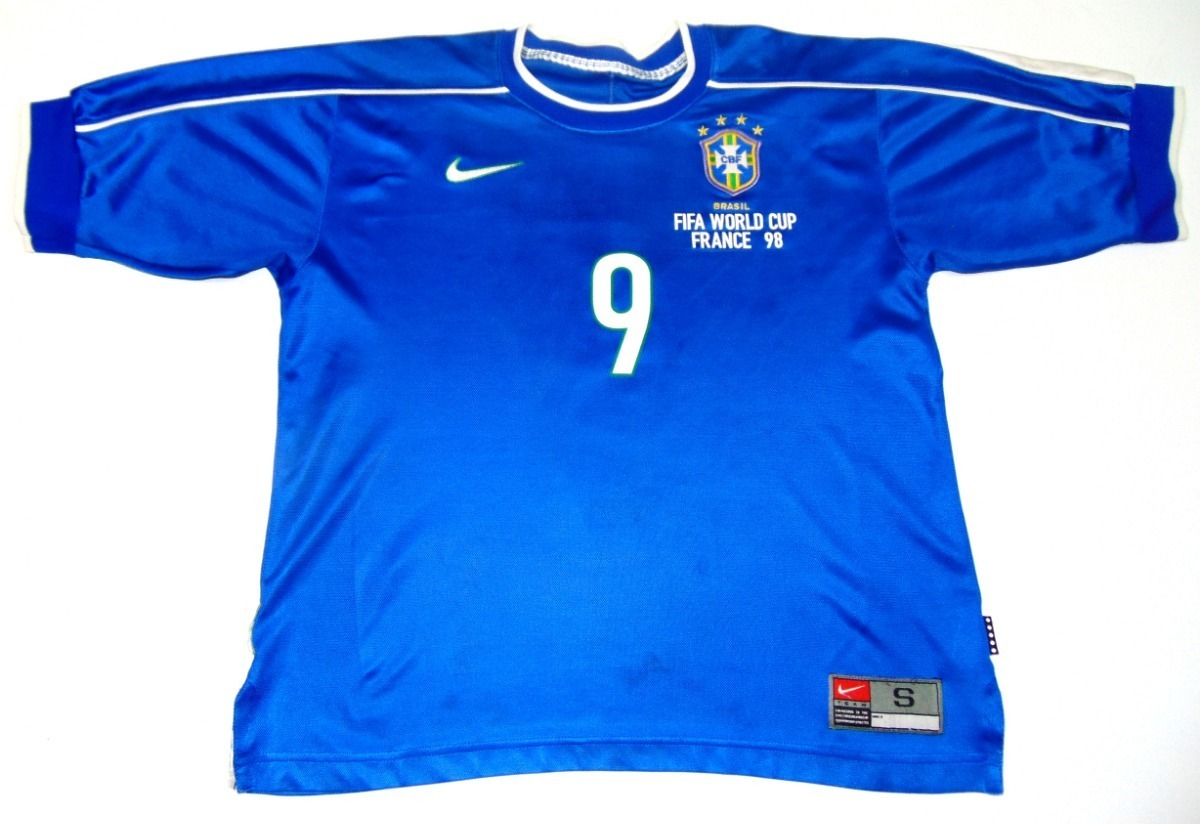 meet 1fd92 9d066 Jersey Brasil Wc 1998 Ronaldo Nazario Visita Real Madrid