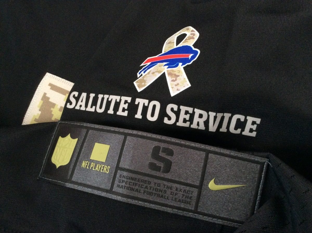 sports shoes 9dac7 4ce58 Jersey Buffalo Bills Salute To Service Limited Nike Militar