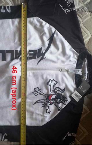 jersey camiseta para ciclismo montaña / ruta - metallica