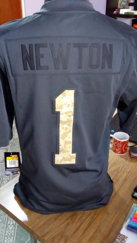 promo code 591ca 587bc Jersey Carolina Panthers Cam Newton Salute To Service