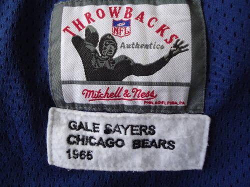 jersey chicago bears sayers talla 4 xl bordado conmemorativo