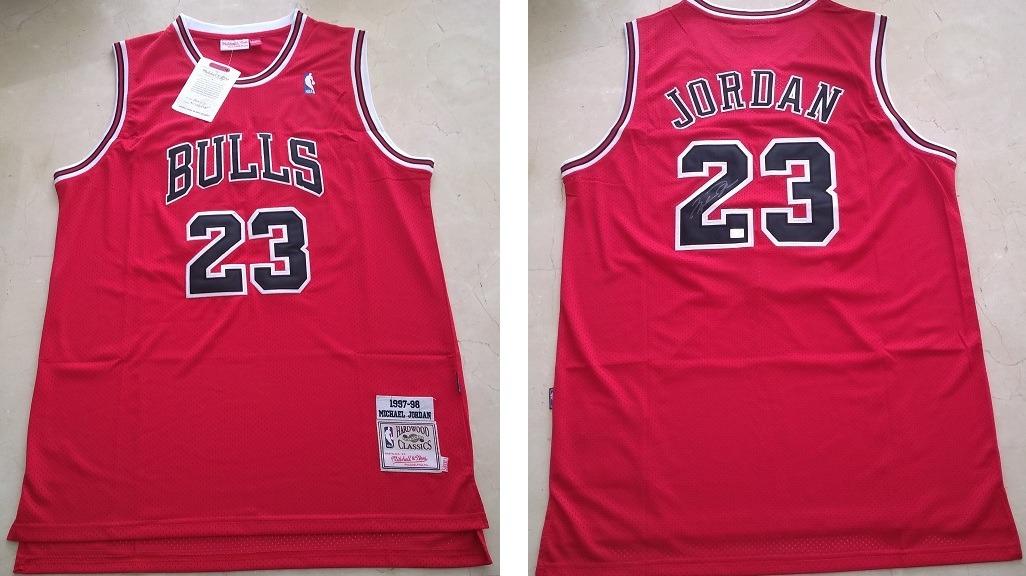 watch 6bf8f b5715 Jersey Chicago Bulls 1998 Firmado Por Michael Jordan Con Coa
