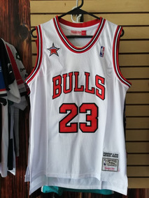 hot sale online daccd baf06 Jersey Chicago Bulls Blanca Rayada Jordan 23 Envio Gratis