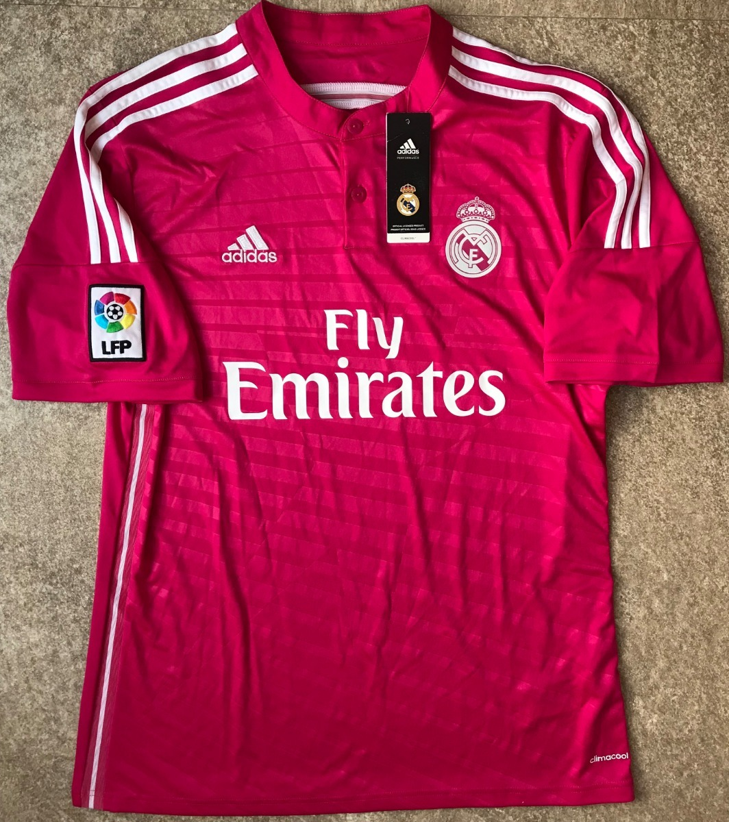 wholesale dealer b506f ae1ed Jersey Chicharito Real Madrid Rosa 2014-2015 Ronaldo