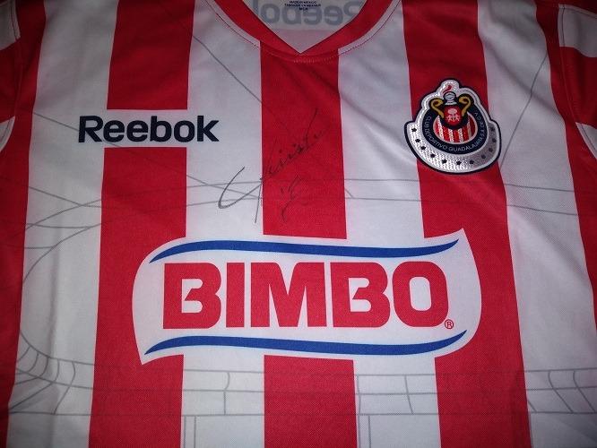 9602cc963ba Jersey Chivas Estadi Firmada Javier Chicharito Hernandez Coa ...