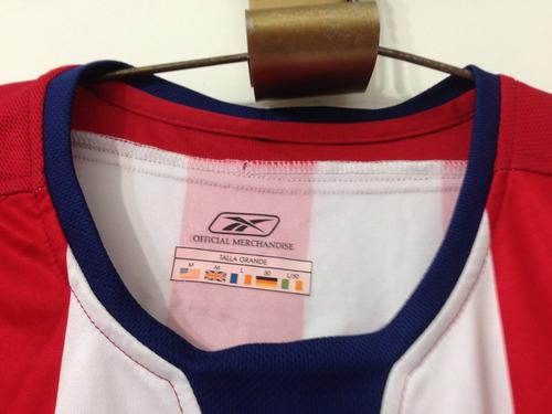 jersey chivas reebok, talla l, f. palencia 58, manga corta