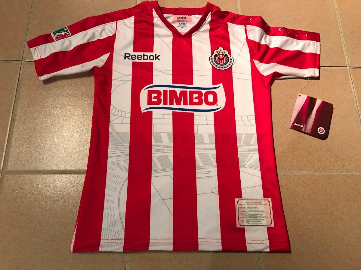 online retailer 43878 a9b47 Jersey Chivas Retro Reebok Estadio Jalisco