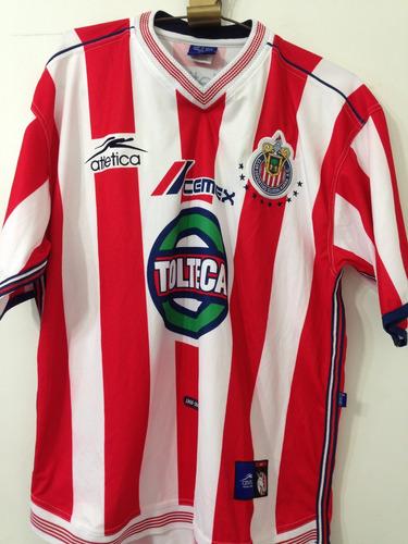 jersey chivas talla l, temporada 2001 atletica