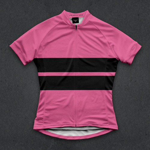 jersey ciclismo mujer twin six forever pink t.small