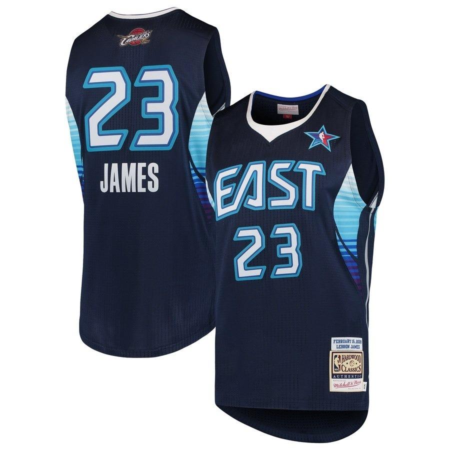 huge discount 14b74 c48de Jersey Cleveland Cavaliers Lebron James Mitchell & Ness Navy