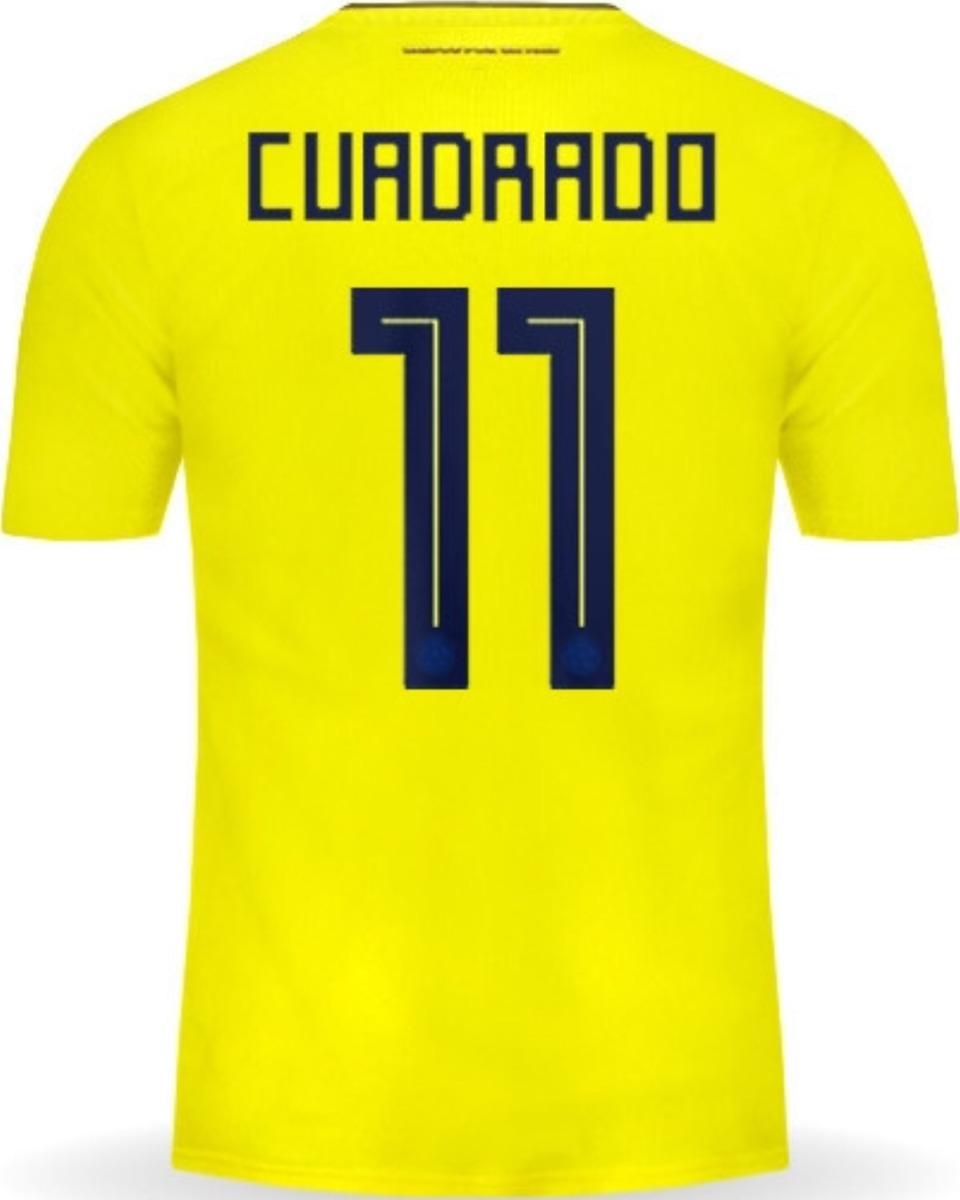 san francisco 905d0 25b9f Jersey Colombia 2018 Local Mundial Rusia Juan Cuadrado En Gr