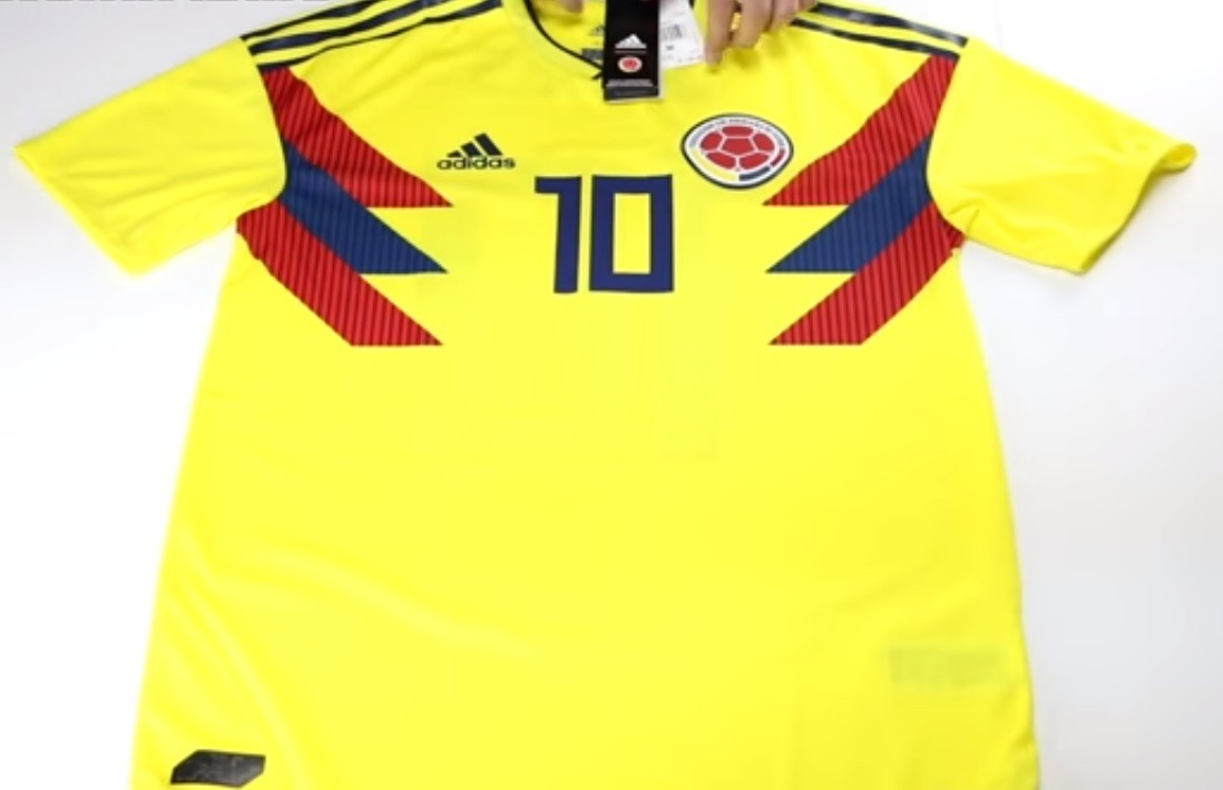 huge discount e9ef6 5c725 Jersey Colombia adidas #10 James Climachill Mundial 2018