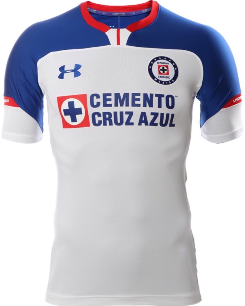 d0f7ec1dcfc Jersey Cruz Azul 2019 Visita Blanco -   548.00 en Mercado Libre