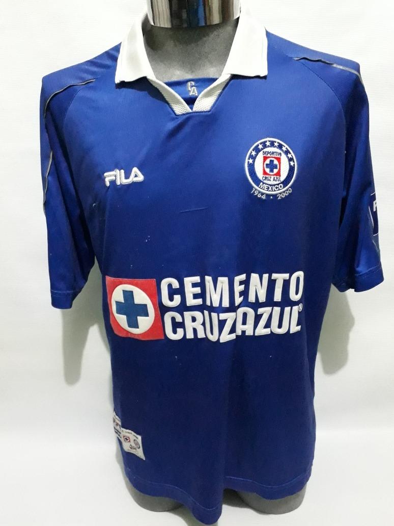 663ccbf6a Jersey Cruz Azul Fila  4 Juan Reynoso Xg Matchworn -   750.00 en ...