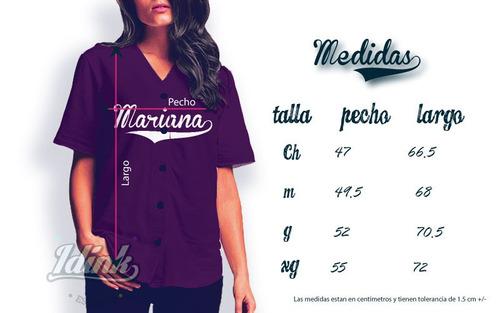 jersey de béisbol rayado personalizado nombre y número dama