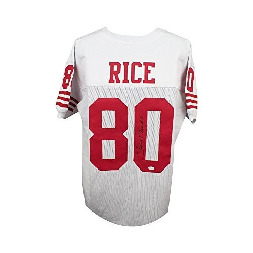 Jersey De Fútbol Blanco Personalizado Jerry Rice Con Autógra ...