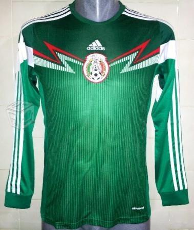 Jersey De Mexico-mundial-brasil 2014- Manga Larga....remate ... c721a0ac2290a