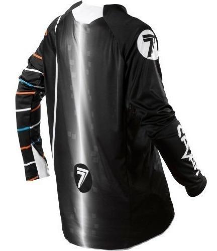 jersey de moto mx seven rival vert para hombre - blanco y ne