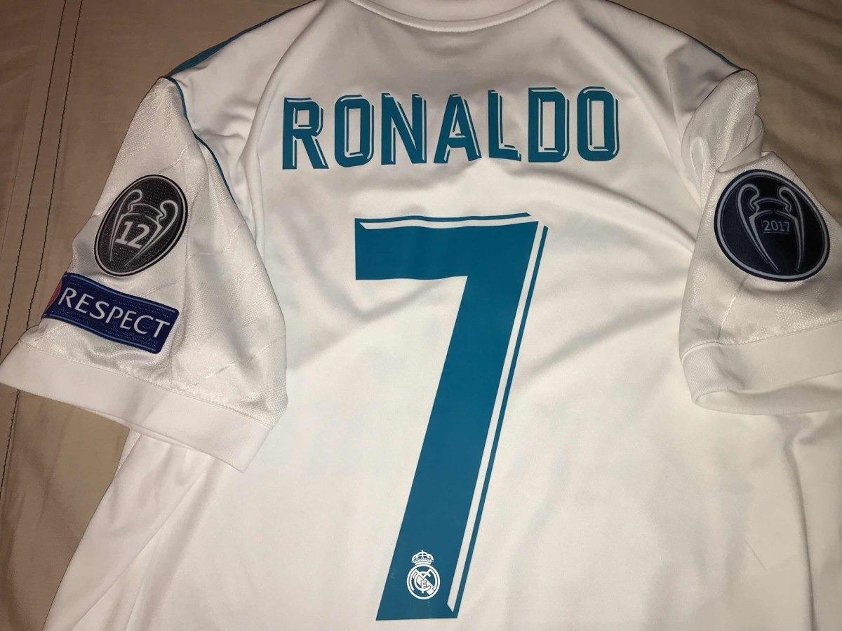 new product cc5d8 a06a4 Jersey Del Real Madrid Cr7 Final Champions League Talla M