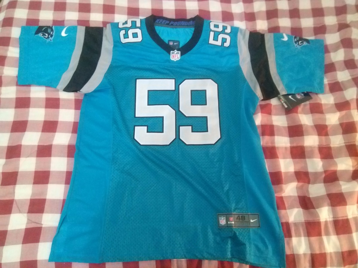 c576091a65708 Jersey Elite Carolina Panthers  59 Kuechly Tamanho 48 (gg) - R  114 ...
