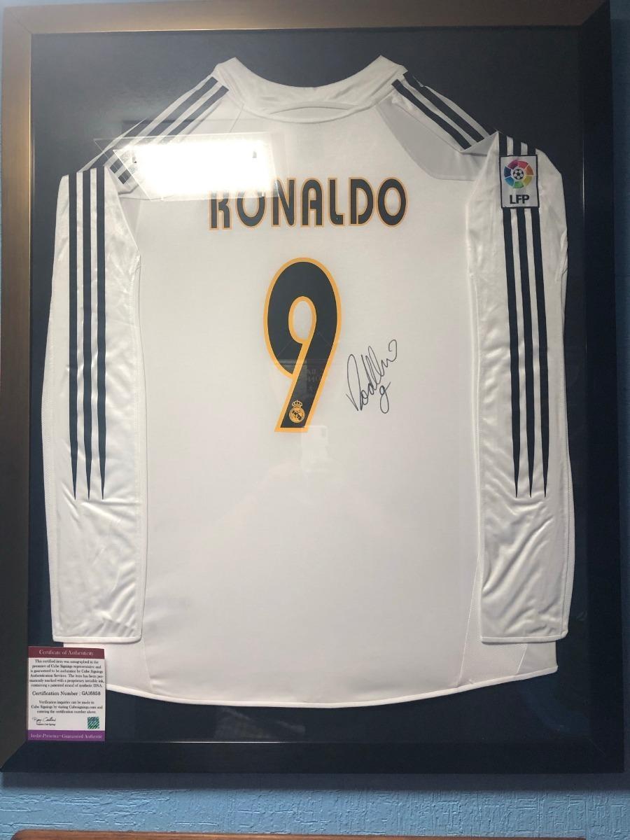 best service 0b014 7ed2f Jersey Enmarcado Y Firmado Ronaldo Nazario R9 Real Madrid - $ 8,000.00