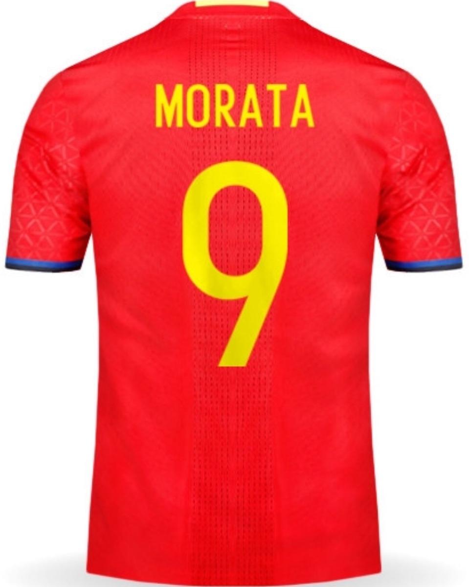 new concept 03854 d5f6a Jersey España 2017 Rojo Álvaro Morata Envío Gratis