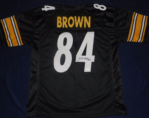 jersey firmado antonio brown pittsburgh steelers nfl acerero