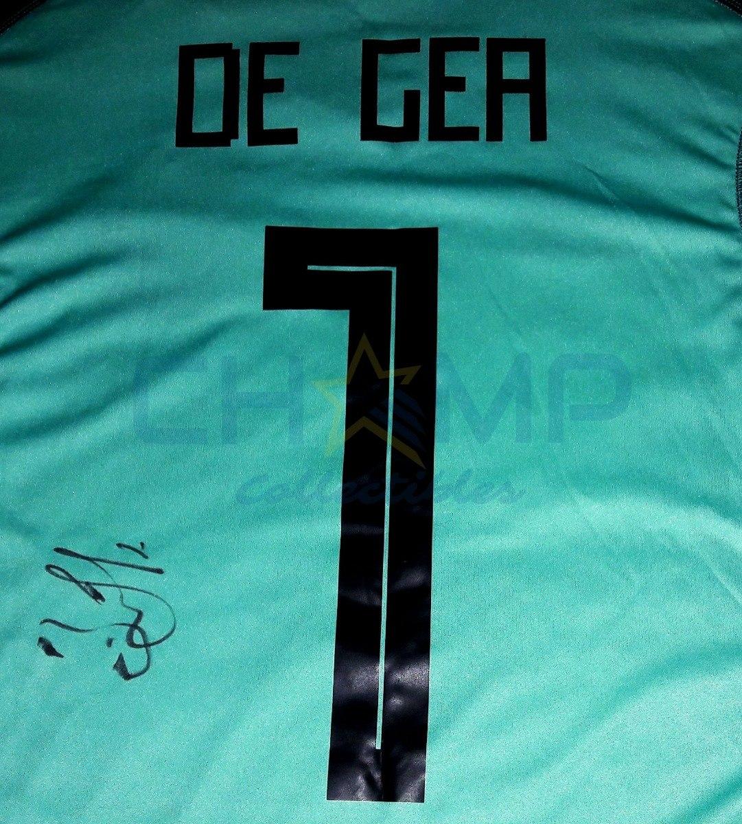 new product f42ab 3f164 Jersey Firmado David De Gea España Manchester Autografo 2018