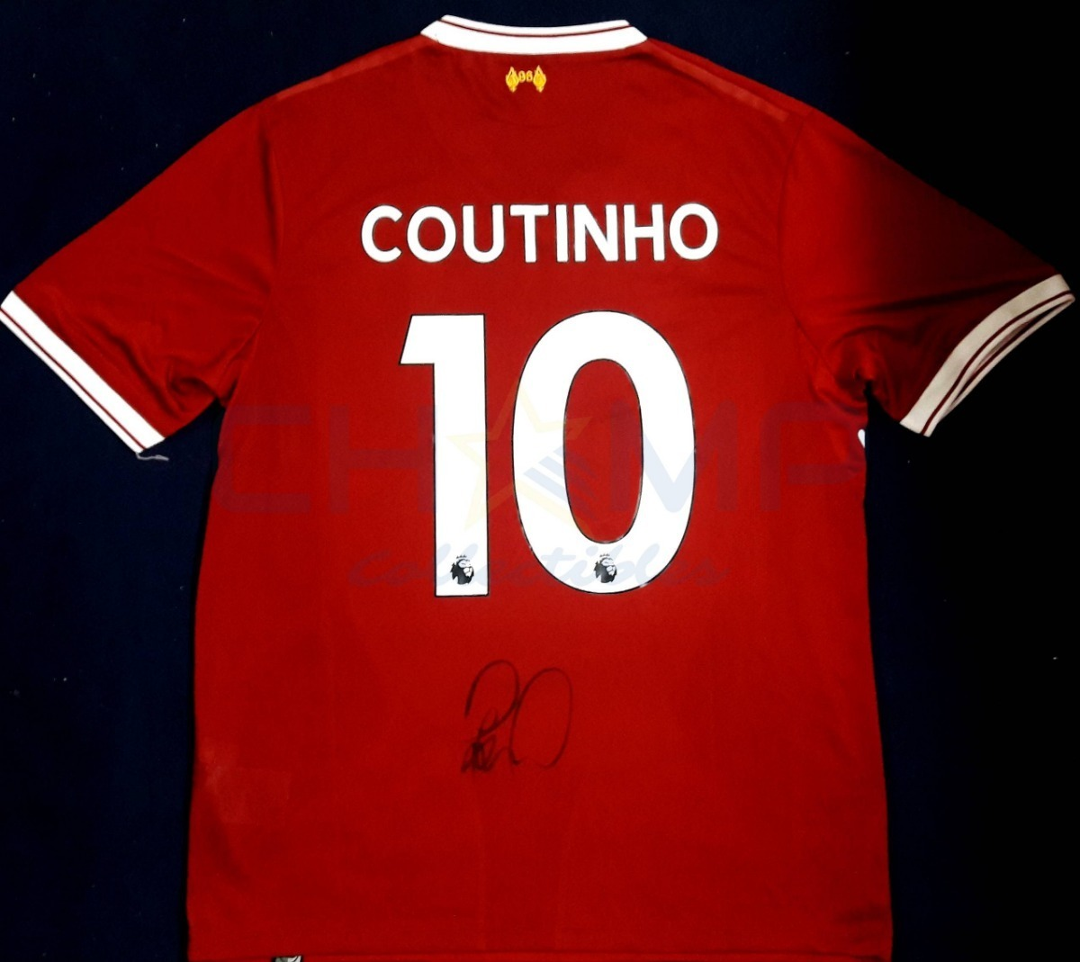 huge selection of 38ffb 315c9 Jersey Firmado Philippe Coutinho Liverpool Nb Autografo